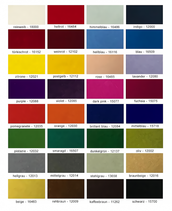 Tekno Touch Flok Kaplama Renk Kartelası